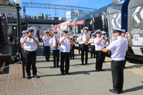 Церемония открытия иммерсивного музея «Поезд Победы» состоялась во Владивостоке