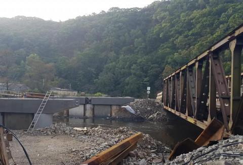 Мост через Соколовку построили уже на 40%