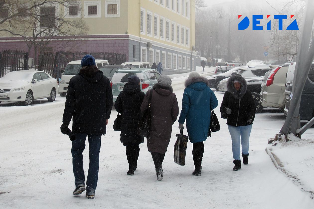 Сегодня в Приморье возможен снег