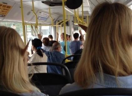 Горожан будут пугать коронавирусом в автобусах
