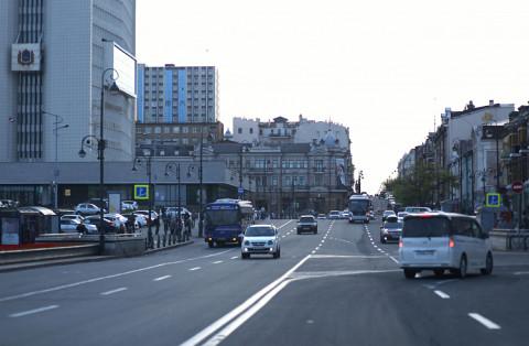 Пожар произошёл в историческом центре Владивостока