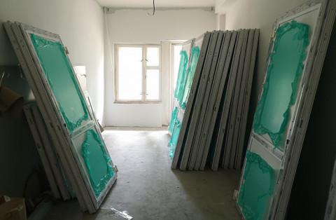 Капитальный ремонт идет в поликлинике Лучегорска