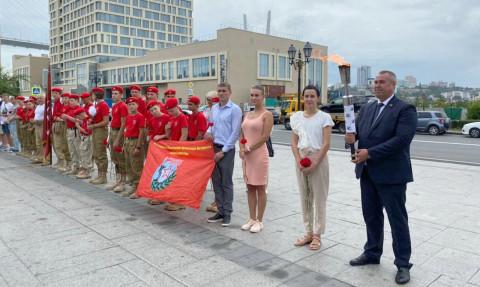 «Эстафету пламени Победы» передали во Владивостоке