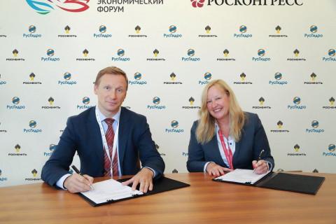 РусГидро установит зарядные станции для электромобилей на АЗС Роснефти