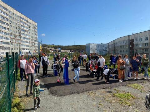 Первую спортплощадку с открытым рингом открыли во Владивостоке
