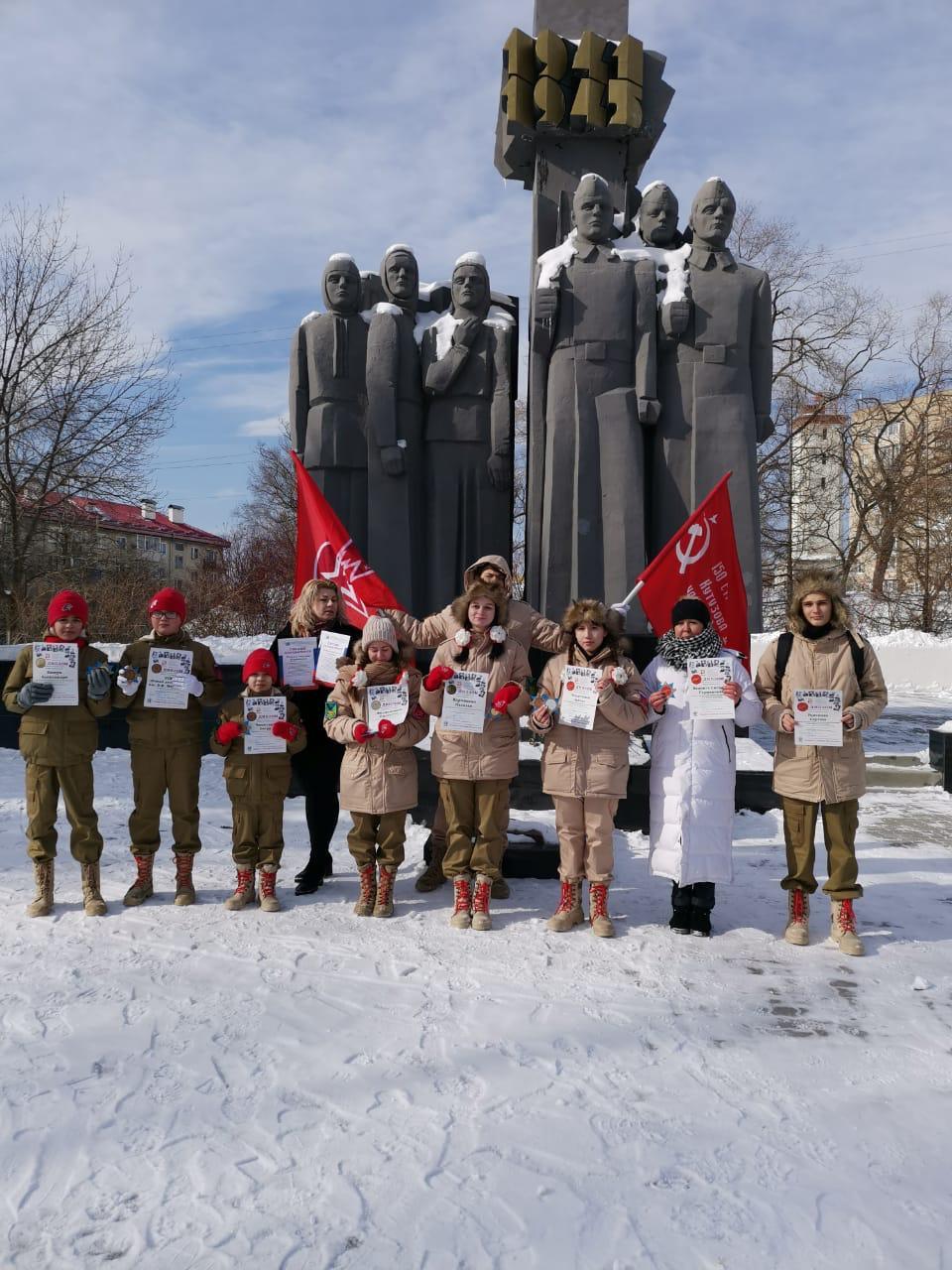 Приморские юнармейцы приняли участие во всероссийском конкурсе
