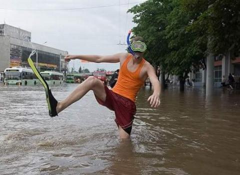 Главный курорт России оказался под водой
