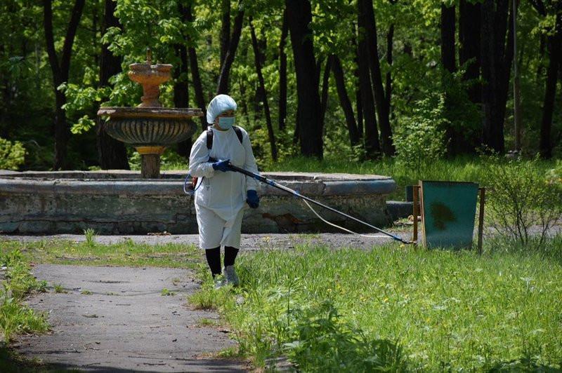 Почти миллион квадратных метров дезинфицировали в Приморье