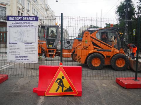Работы на теплосети в центре Владивостока завершены