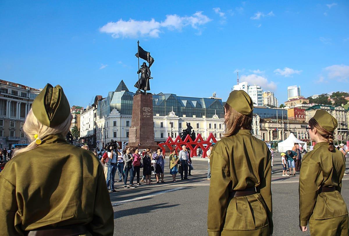 Как проходил праздник в честь Победы во Второй мировой войне (фоторепортаж)