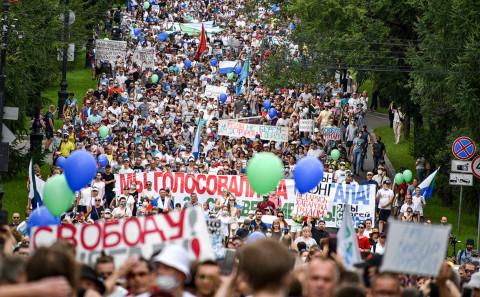 Хабаровские оппозиционеры прорвались к Путину