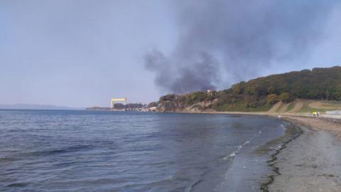 Пожар охватил рыбзавод и склады в Приморье