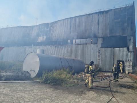 Пожар на территории ТЭЦ произошёл на Камчатке