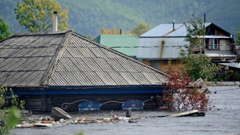 Город в Хабаровском крае уходит под воду