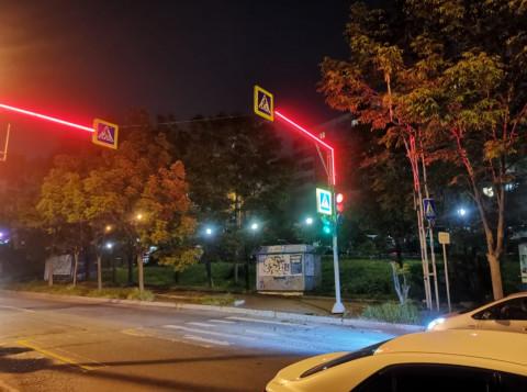 Владивостокские светофоры оборудуют светодиодными лентами