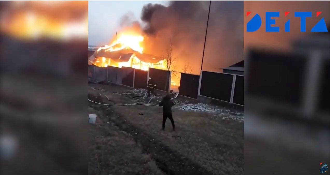 База отдыха в Приморье пострадала от мощного пожара – видео