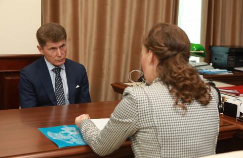 Губернатор Приморья встретился с детским омбудсменом России