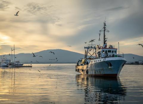 Человек погиб при пожаре на катере в Охотском море