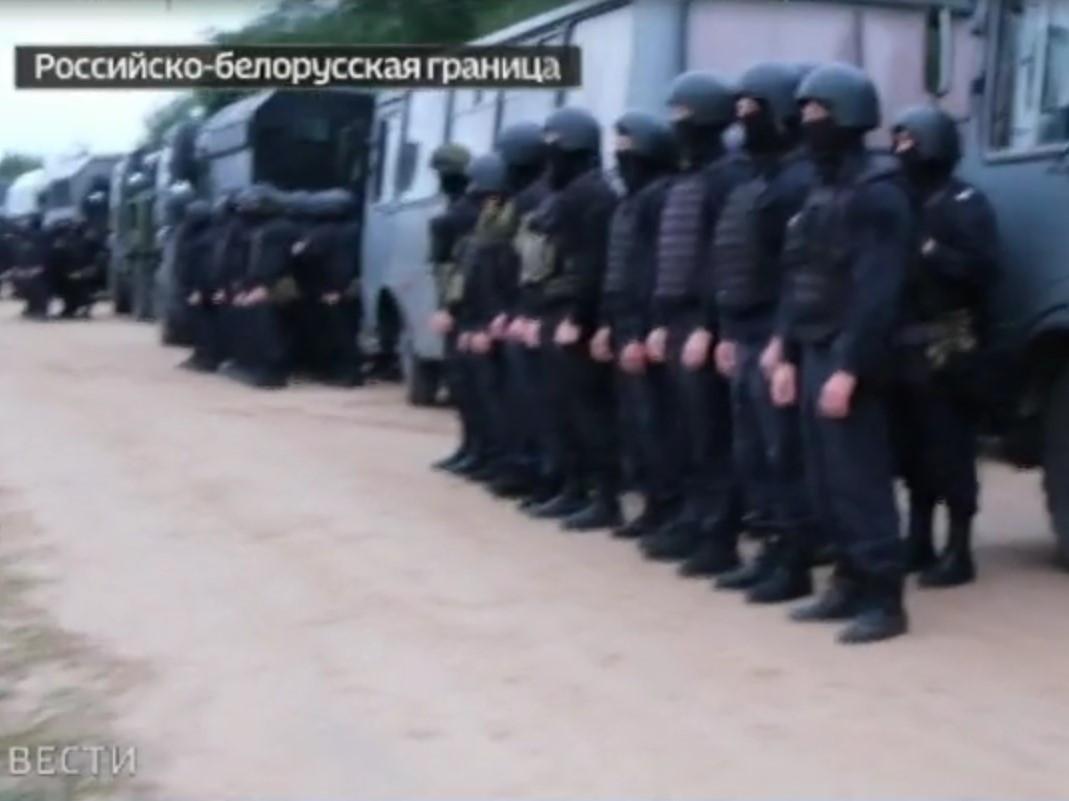 Российские силовики обнаружены на белорусской границе