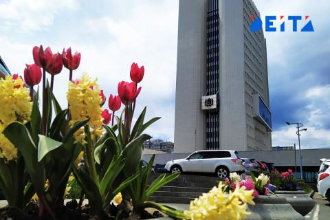 Вакцинировать население в здании правительства Приморья будут до 4 июня