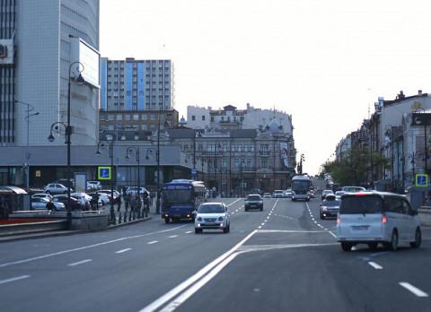 Схема движения меняется в центре Владивостока