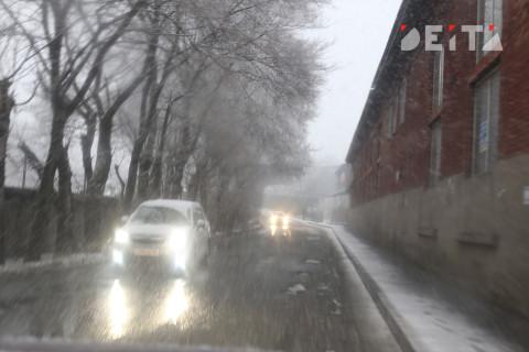 Дороги в Приморье превратились в каток - видео