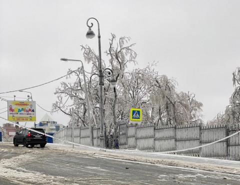 Приморье в ледяном плену без связи, света и дорог: фото