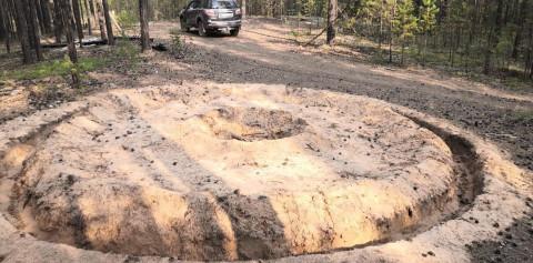 Тайну странных кругов в лесу разгадывает полиция Якутии
