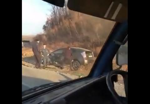В Приморье жесткое ДТП лоб в лоб попало на видео
