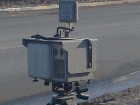 Камеры на треногах вышли на приморские дороги