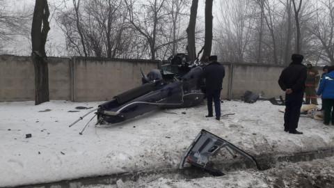 Частный самолет упал на территорию санатория в Алма-Ате