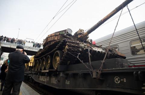 Экспонат военной техники из Сирии заинтриговал горожан