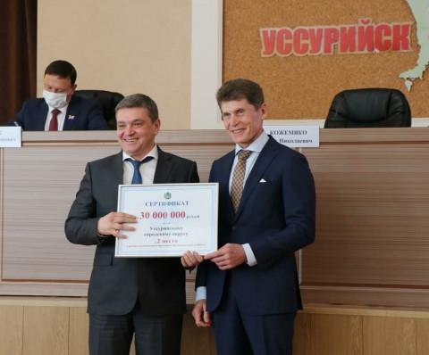 Уссурийск стал лидером рейтинга социально-экономического развития в Приморье