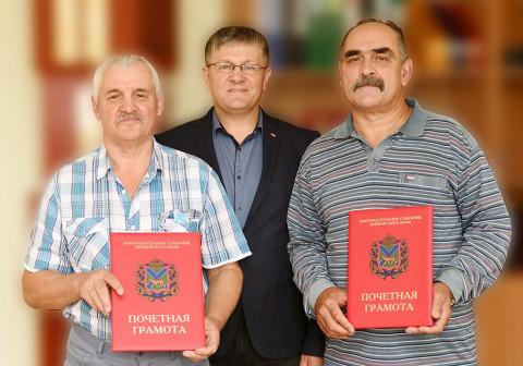 Краевой депутат Владимир Хмелев поздравил рабочих Партизанской ГРЭС