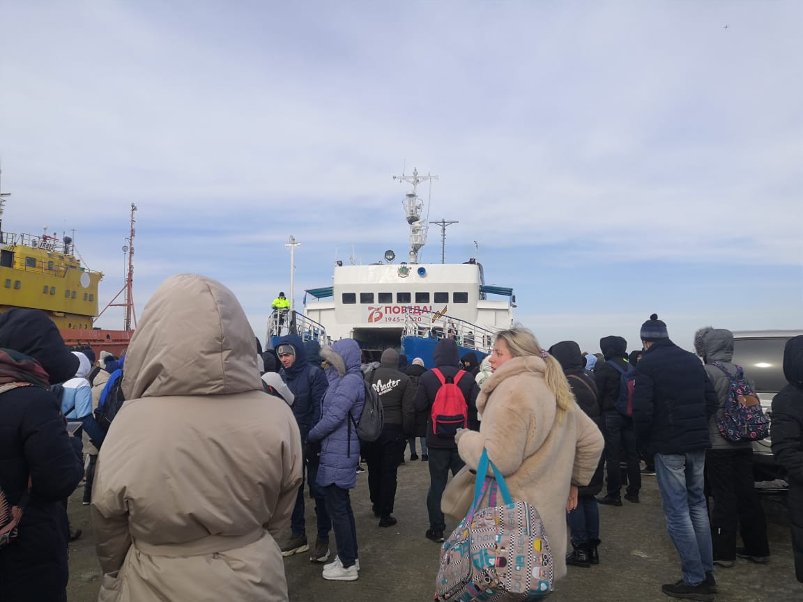 Озвучен режим работы парома до острова Русский