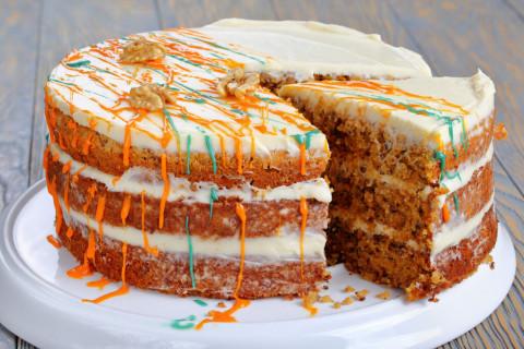 Морковный торт - очень вкусный десерт за 10 минут