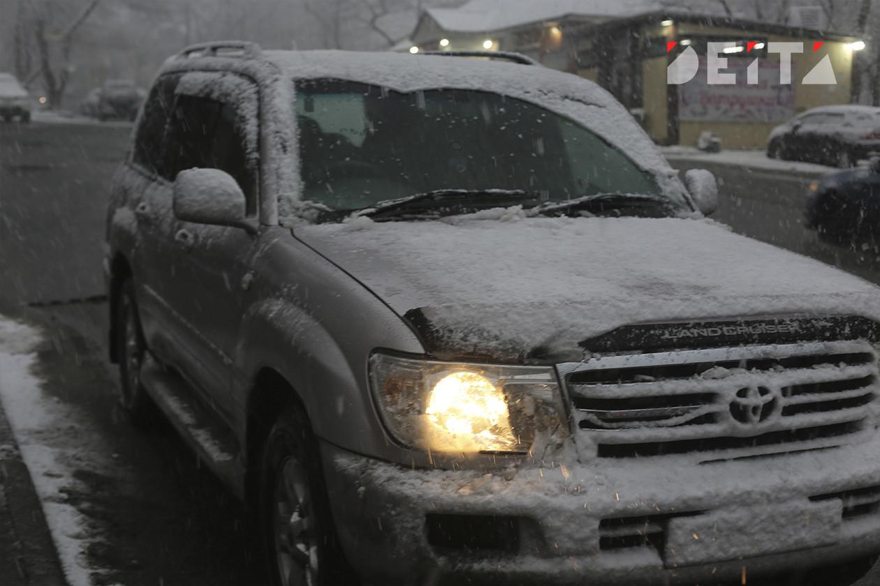 Приморцев предупреждают о снегопаде