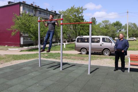 «Спортивные дворики» принимают в уссурийских селах