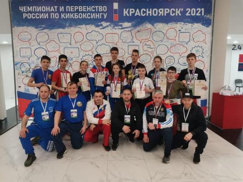 Тринадцать медалей завоевали приморские кикбоксеры на чемпионате России