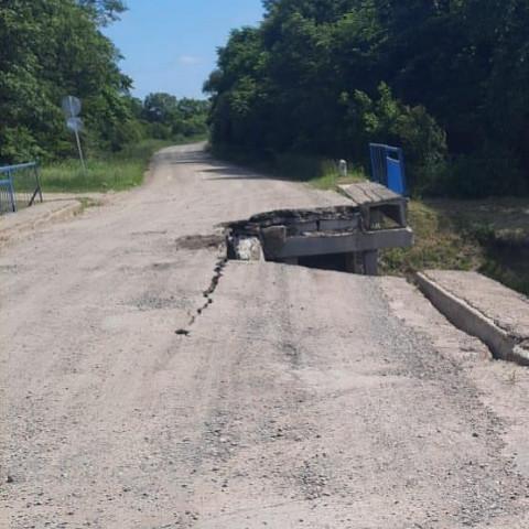 Очередной мост рухнул в Приморье