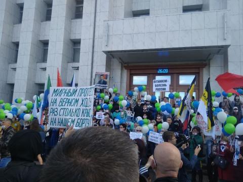 Хабаровчане не вняли угрозам Дегтярева
