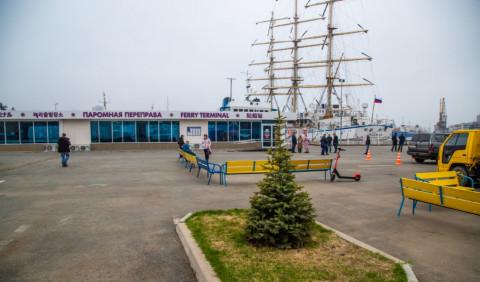 Гармоничное пространство создают на причале во Владивостоке
