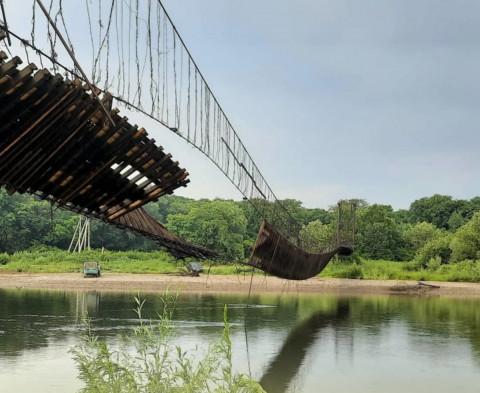 Режим ЧС объявили в районе Приморья из-за обрушения моста