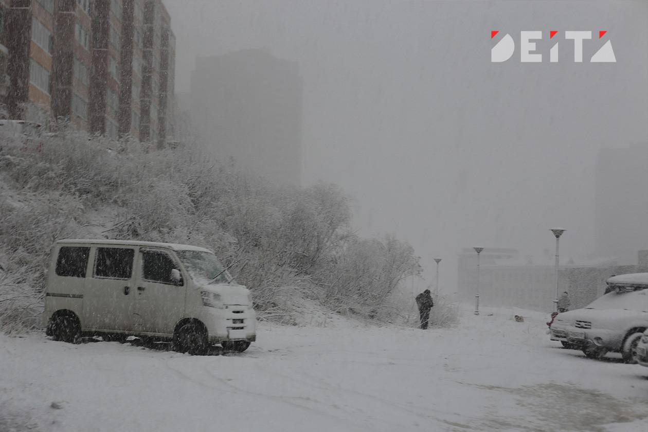 Еще снег: циклон выйдет на Приморье уже в понедельник